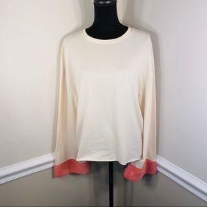 Trafaluc by Zara Fur Cuffed Long Sleeved